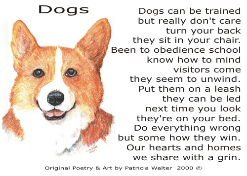 Dog Poetry 2 by Patricia Walter