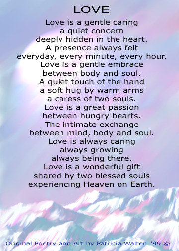 love poetry. found only by loving hearts location unknown. Original Poetry & Art by