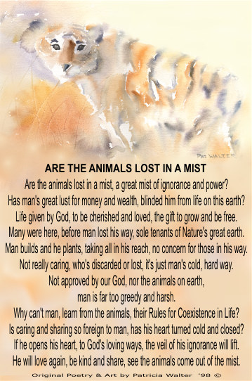 Poetry by Patricia Walter - Are The Animals Lost In A Mist
